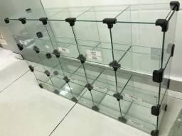 Baleiro de vidro 15 compartimento