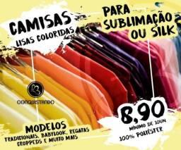 924d27340e Camisas Lisas Coloridas para Sublimação ou Silk