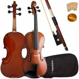 Violino Vogga 4/4 c/ Estojo + Arco + Breu + NF + Garantia