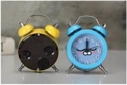 Mini Relógio Despertador Vintage Analógico Presente Retro