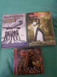 2 DVDs e 1 CD do iron maiden
