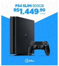PS4 SLIM 500GB 2215A Playstation 4 Slim Novo com Garantia