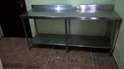 Mesa de inox.1.90x060