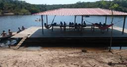 SÍTIO DO SR. ELSON para ALUGAR - Na beira do rio, c/ FLUTUANTE para eventos evangélicos