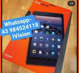 Tablet amazon fire hd10 Novos lacrados com 6 meses de garantia