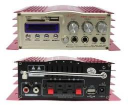 Novo Módulo Amplificador De Áudio Bluetooth 2x P10 2x rca Fm karaokê