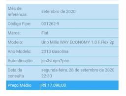 Vendo uno mille way/ básico/ 1.0/ ano 2013/ 2 portas