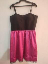 Lindo vestido de festa rosa