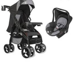Carrinho de bebê e bebê conforto unissex