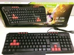 Promoção Teclado Gamer Multimídia Com Fio Usb 2.0, Novo, Entregamos