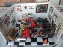 Miniatura Oficina Diorama Maquete De Motos 1/18