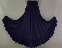 Saia para dança flamenca - preta tamanho M