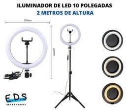 Iluminador de Leg Ring Light 2 Metros e 10 Polegadas 3 Cores