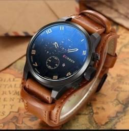 Relógio masculino Curren Lux 2021 (preto e marrom)