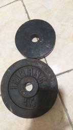Uma anilhas de 3kg em 1 de 4kg