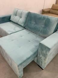 Sofá retrátil azul Tiffany