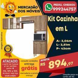 Kit Cozinha em L Em Promoção!!!