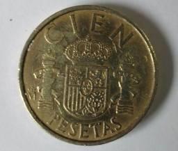 Moeda antiga Cien Pesetas 1983