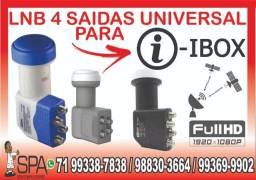 Lnb 4 Saidas Universal Banda Ku 4k Hd Lnbf Para I-Box