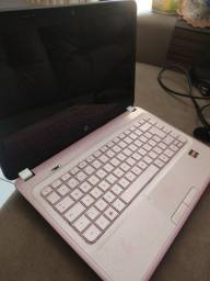 Notebook HP rosa pavilion G4 1114BR