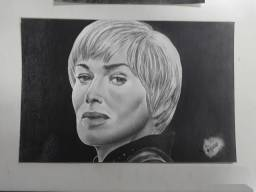 Cersei Lannister - feito a lapis