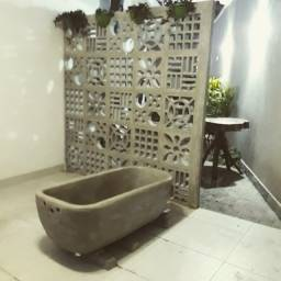 Banheira em cimento rustico