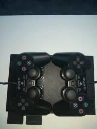 Play Station 2 Desbloqueado - 2 controles originais + 2 memory card