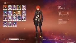 Conta de Genshin impact com Zongli Diluc Venti e outros personagens
