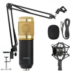Kit Microfone Condensador BM-800 - Gravações - Home Stúdio - Lives