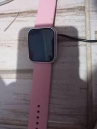 Relógio smartwhatch p80+2 pulseiras rosa