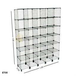 Estante Aramada 30 nichos - 1,50 x 1,90 x 0,30 - Consulte Seu Frete