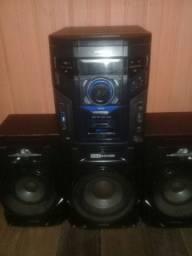 Som Philips potente semi Novo 600w de 3 caixas