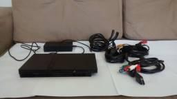PS2 Slim com 3 jogos originais