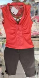 Blusa e bermuda usado