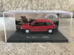 Fiat Tipo 1994 escala 1/43 Carros Inesquecíveis do Brasil