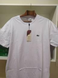 Camiseta Básica Lacoste Branca - G