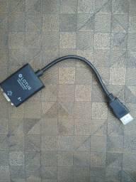 Cabo conversor HDMI para VGA