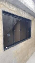 Janela blindex vidro temperado
