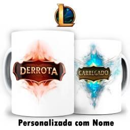 League Of Legends Carregado Derrota Lol Caneca Personalizada Com Nome