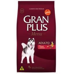 Vendo Ração Gran Plus Menu Raças Médias 15kg Frango ou Carne por 114,90
