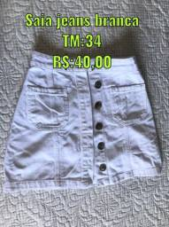 Saia e short jeans feminino