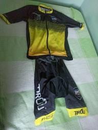 Conjunto Bretele e Camisa Ciclismo Desafio Brou Nova Lima