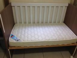 Berço americano ( vira cama ) + colchão !!