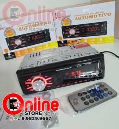 Aparelho De Som Carro auto rádio Automotivo Bluetooth Pendrive usb Sd Rádio