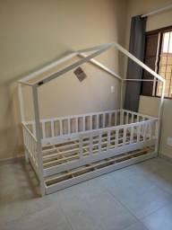 BI cama montessoriana casinha branca