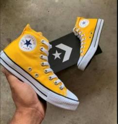 Vendo All star cano alto amarelo Tam.34  (NOVO) por 100 reais
