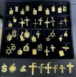 Pingente de moeda antiga idêntica a ouro com garantia eterna