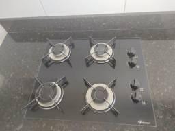 Fogão cooktop 4bocas Fischer semi novo