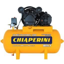 Compressor de Ar 10 Pés 2HP 70L 220V Monofásico Rex.t Chiaperini