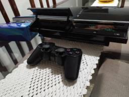 Ps3 Playstation 3 Fat 4usbs Retrocompatível Ps2 Com Jogos na memoria